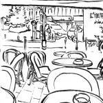 terrasse de brasserie rue Turbigo