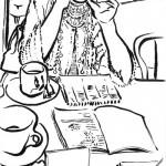 esquisse d'une chorégraphe en écriture