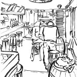 esquisse d'un bar un dimanche