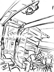 esquisse dans le train