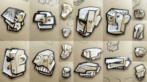 ebauches nouvelles têtes papercraft