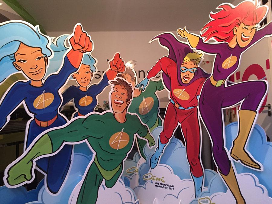 les super-héros enseignes